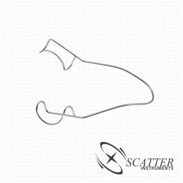 Wire Lid Speculum Flared Rounded Closed Wire Blade Temporal Approach