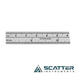 Ruler Stainless Steel Graduation in Millimeter and Inches