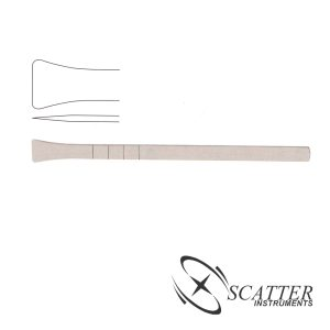 Cottle Osteotome 18cm, 16mm Wide, Fishtail Shaped End