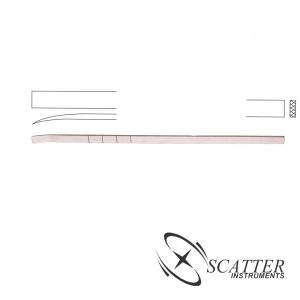 Cottle Osteotome 18cm, 6mm wide Curved Graduated