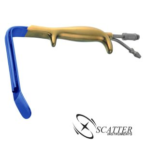 Ferriera Style Fiber Optic Retractor Insulated With Smooth End 18.5