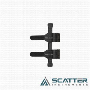 ABB-11AB Double Clamp Matte Finish Thick Walled Arteries Black